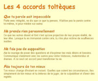 4 accords tolteques