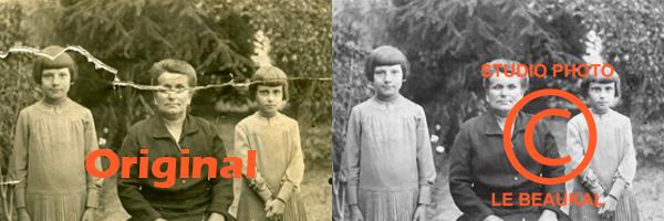 Restauration de photos abîmées ou anciennes